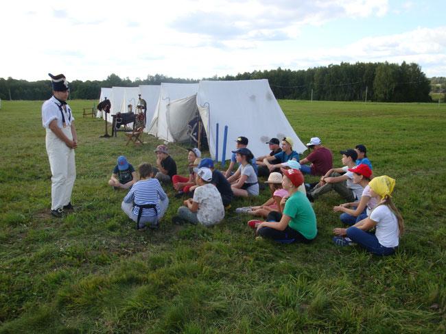 На лекции в лагере французского 5-го кирасирского полка