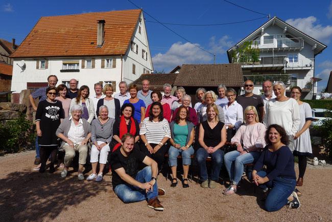Beste Stimmung beim Nagolder Come Together-Chor bei seinem Probenwochenende in Seewald-Göttelfingen