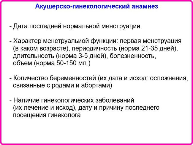 """Акушерско-гинекологический анамнез - Шпаргалки для """"скорой помощи"""""""
