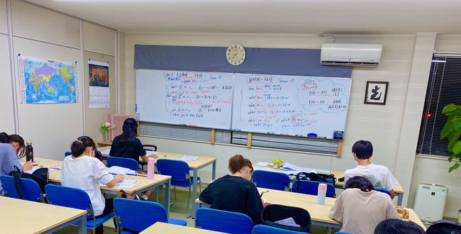 中学3年生 英語の授業風景 @広陵町の学習塾『たまき塾』