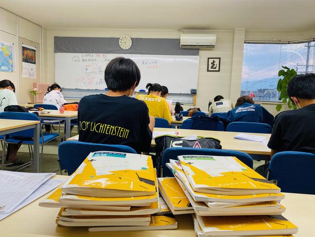 【広陵・真美ヶ丘・上牧】夏期講習(中学3年生の授業風景)@たまき塾