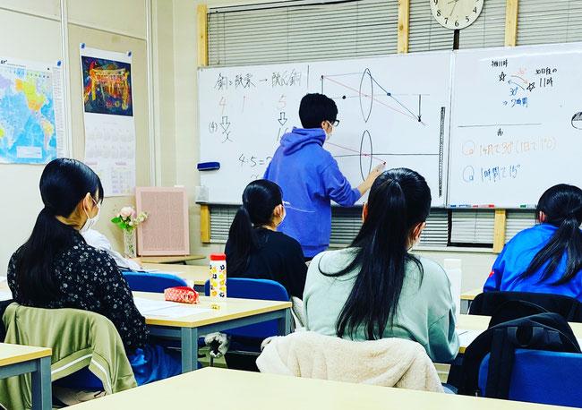 たまき塾|高校入試前の最後の授業の様子