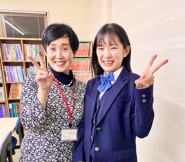 卒業生と塾長(たまき塾|広陵・真美ヶ丘・上牧の学習塾)