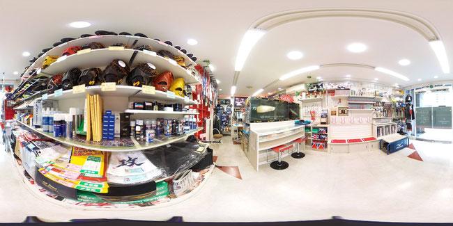 第2章野球人の店内の様子を360度カメラでご覧ください。