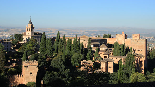 View Of Alhambra from Plaza de San Nicolas