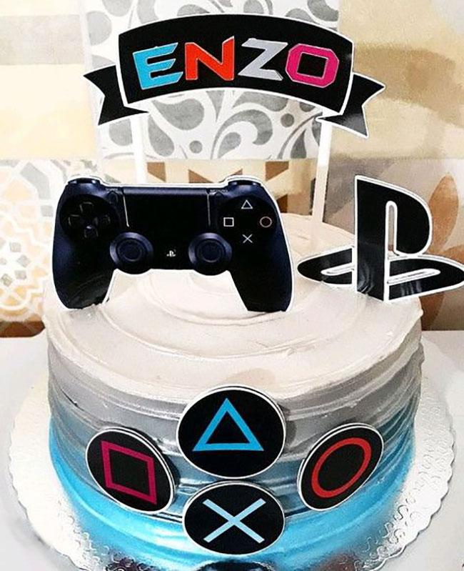 pasteles de cumpleaños de video juegos