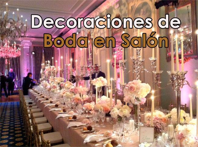 ideas para decoración de salon para boda