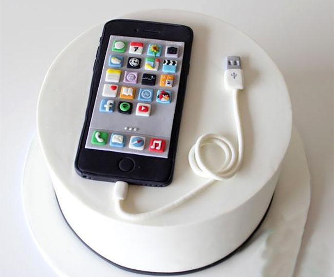 pasteles de cumpleaños de celulares