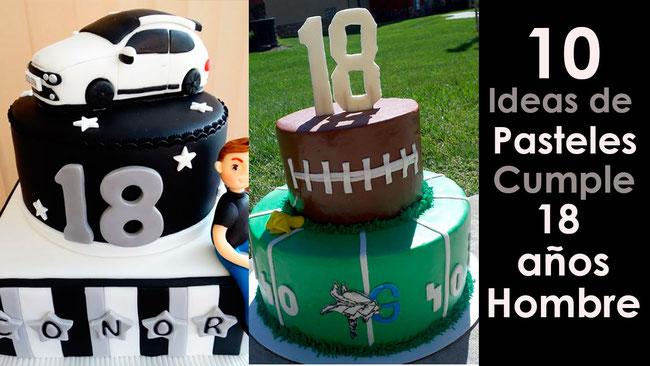pasteles cumpleaños 18 Hombre