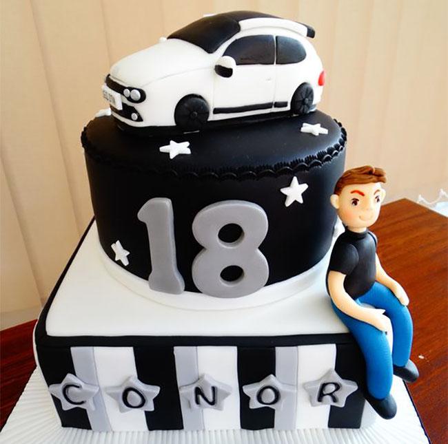 pasteles de cumpleaños de autos