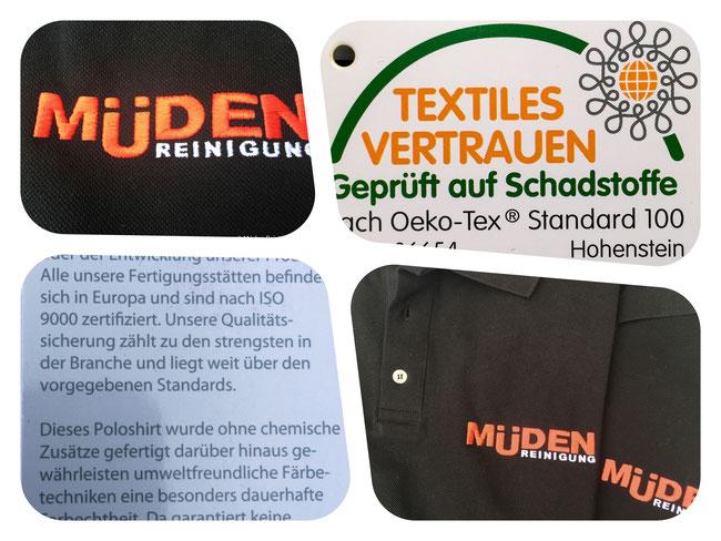 mueden, Müden Polo-Shirts Potpourri mit schwarzem LogoShirt