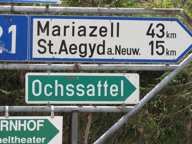 Richtung Ochssattel
