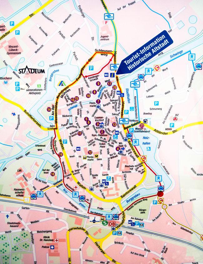 Bild: Karte von Stade