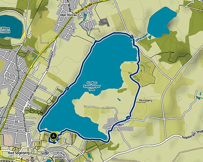 Bild: Wanderkarte Großer Segeberger See