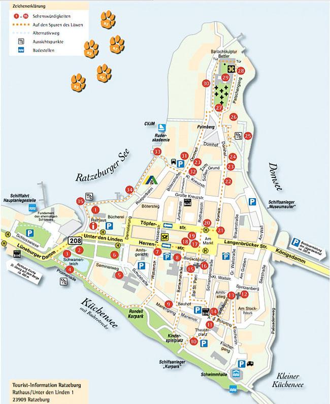 Bild: Karte von Ratzeburg