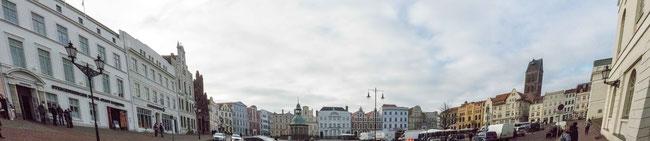 Bild: Der Marktplatz von Wismar