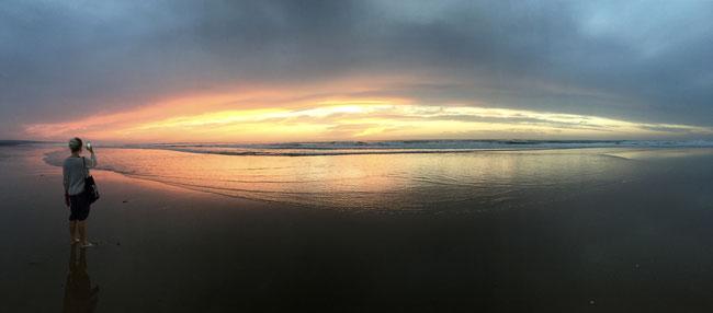 Bild: Sonnenuntergang von Sidi Kaouki