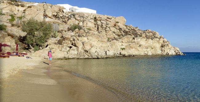 Bild: Der Beach Super Paradise auf Mykonos