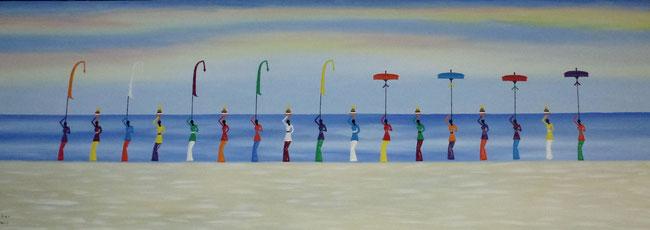Bild: Gemälde - Menschen am Meer