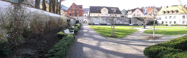 Bild: Der Klostergarten in Immenstadt