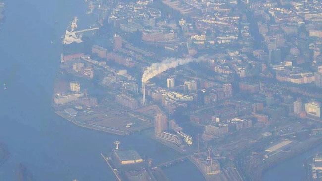 Bild: Hamburg beim Landeanflug