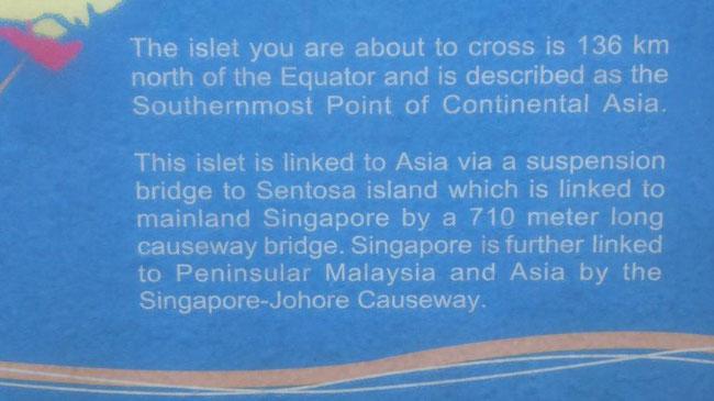Bild: Tafel an der südöstlichsten Stelle in Asien