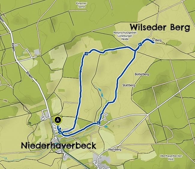 Bild: Wanderkarte Wilseder Berg