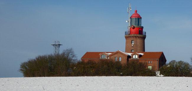 Bild: Der denkmalgeschützte Leuchtturm Buk bei Bastorf