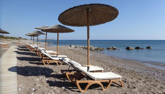 Bild: Der Strand auf Rhodos