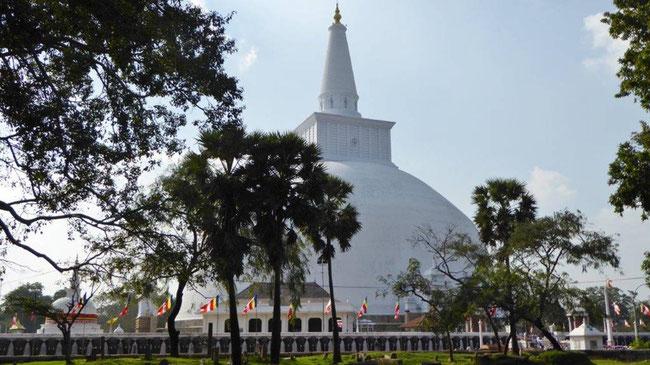 Bild: Tempel von Anuradhapura in Sri Lanka
