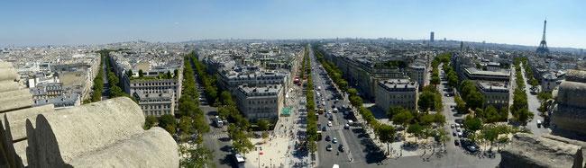 Bild: Paris vom Arc de Triomphe