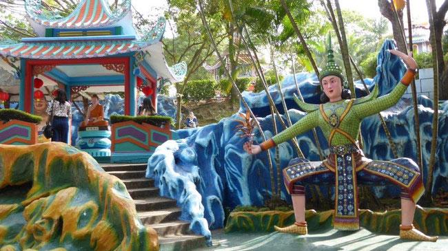 Bild: Chinesischer Tempelbezirk in Singapur