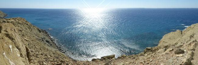 Bild: Prasonisi teilt das Meer ins Mittelmeer und das Ägäische Meer im Süden der Insel Rhodos