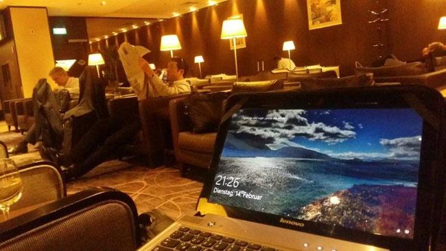 Bild: Silver-Kris-Lounge in Singapur