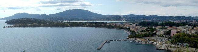 Bild: Panorama von der Festung auf Korfu Stadt