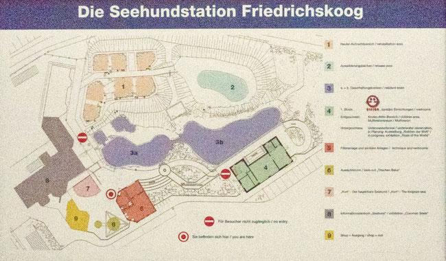 Bild: Karte der Seehundsration in Friedrichskoog