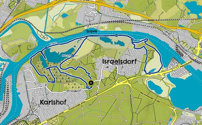 Bild: Wanderkarte vom Naturschutzgebiet Schellbruch