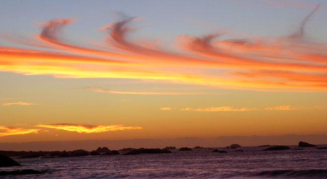 Bild: Sonnenuntergang in der Bucht von Paternoster