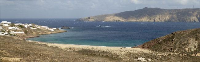 Bild: Panormos Beach im Norden von Mykonos