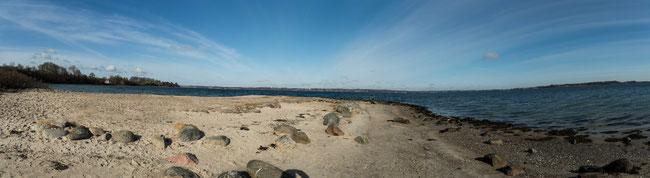 Foto unserer Wanderung auf der Halbinsel Holnis