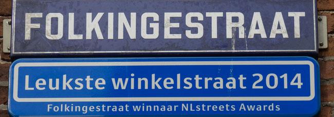 Bild: Folkigestraat, eine der lebendigsten Straßen Groningens.