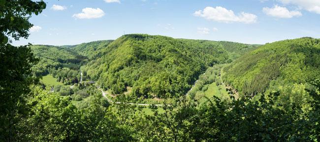 Bild: Foto vom Dreitälerblick im Südharz auf unserer Panoramaroute