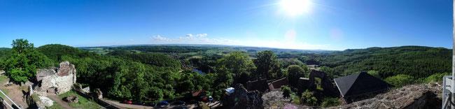 Bild: Blick von der Burgruine Hohnstein
