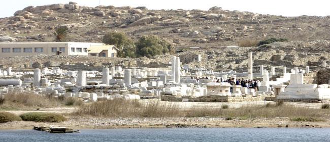 Bild: Die antike Insel Delos