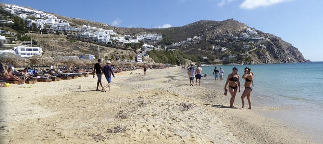 Bild: Elia Beach im Süden der Insel Mykonos