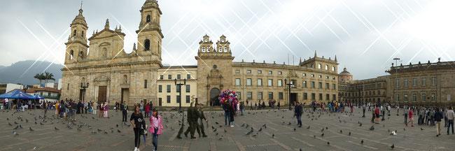 Bild: Plaza de Bolívar in Bogotá in Kolumbien