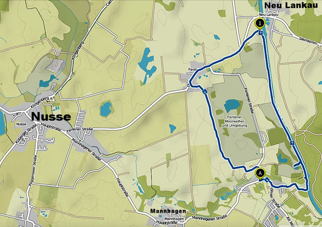 Bild: Karte Naturschutzgebiet Pantener Moorweiher