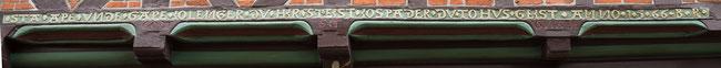 Bild: Giebelspruch in einem Haus in Rendsburg
