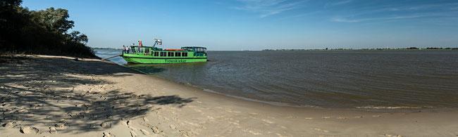 Bild: Foto vom Safari-Schiff Tidenkieker auf der Insel Schwarztonnensand