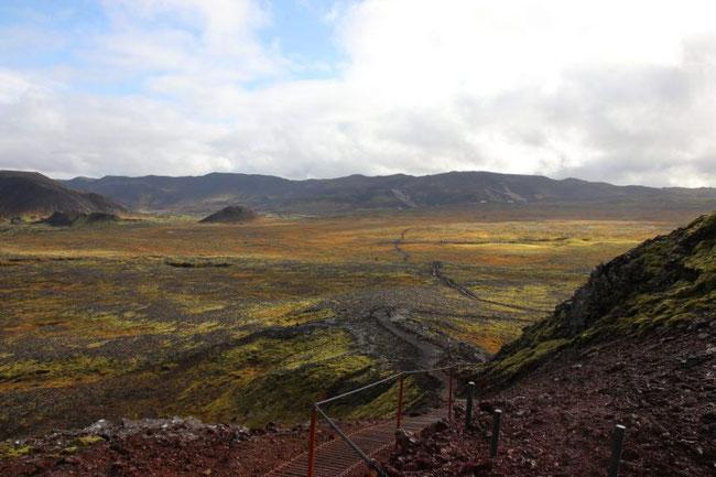 Aufstieg zum Vulkan